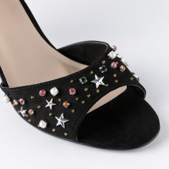 Celeste Embellished Stilettos with Buckle Closure