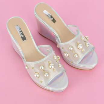 Celeste Pearl Detail Wedges