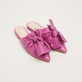 Bow Detail Mules