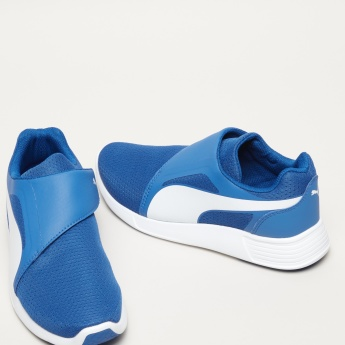 PUMA Textured Running Shoes with Strap