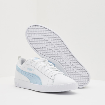 PUMA Contrast Detailed Walking Shoes with Lace-Up Closure