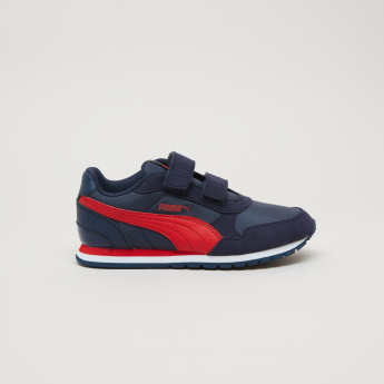 PUMA Hook and Loop Closure Sneakers with Stitch Detail