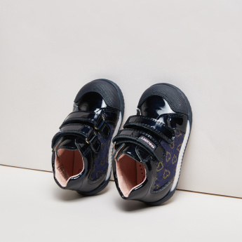 Pablosky Printed High Top Shoes with Hook and Loop Closure