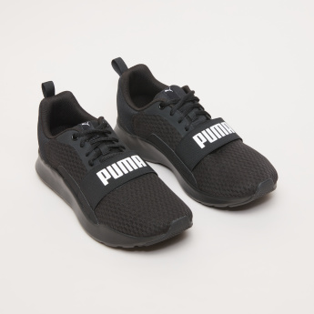 PUMA Men's Walking Shoes with Logo Detail Strap