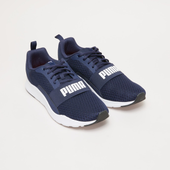 PUMA Walking Shoes with Logo Detail Band