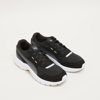 PUMA Striped Lace-Up Walking Shoes