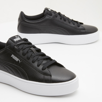 PUMA Textured Walking Shoes with Lace-Up Closure