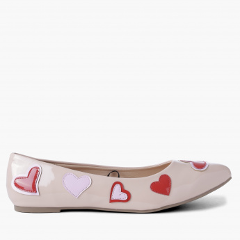 Missy Patch Work Detail Slip-On Shoes