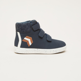 High Top Shoes with Hook and Loop Closure