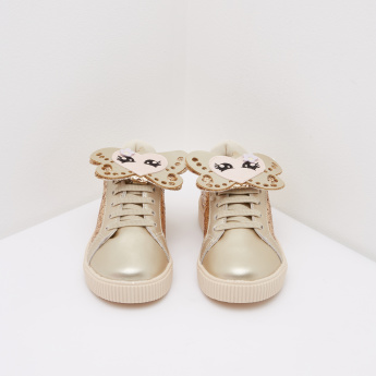 Pampili Applique Detail Shoes with Lace-Up Detail