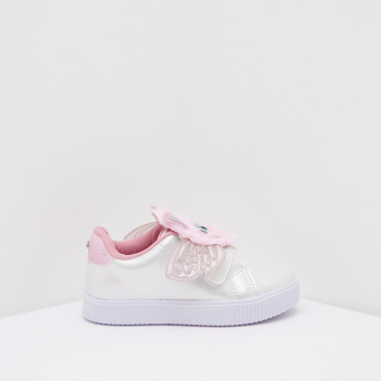 Pampili Applique Detail Sneakers with Hook and Loop Closure