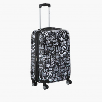 Elle Printed Trolley Bag with Four Wheels