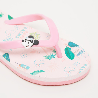 Minnie Mouse Printed Flip Flops