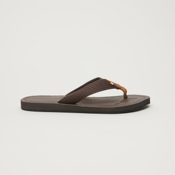 Stitch Detail Flip Flops with Textured Straps