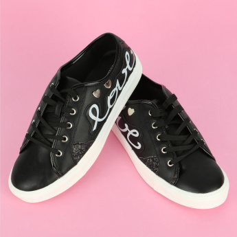 Missy Printed Lace-Up Sneakers