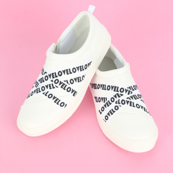 Missy Printed Sneakers with Zip Closure