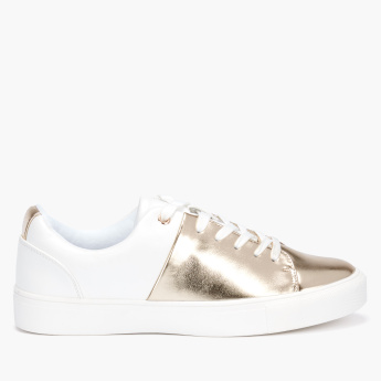 Missy Metallic Detail Lace-Up Sneakers