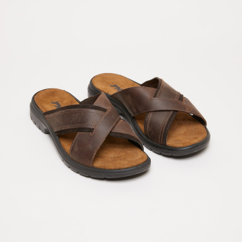 IMAC Cross Straps Arabic Sandals with Stitch Detail