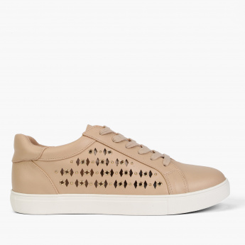 Lee Cooper Lace-Up Shoes with Laser Cut Detail