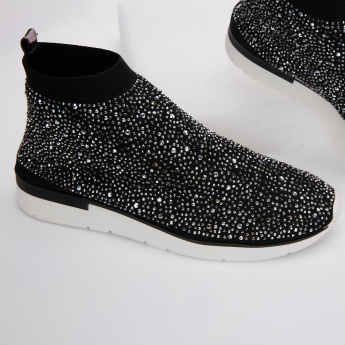 Celeste Embellished Slip-On High Top Shoes