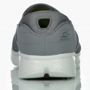 Skechers Textured Slip-On Shoes with Elasticised Gussets