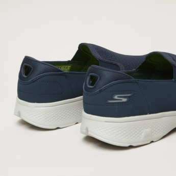 Skechers Textured Walking Shoes with Elasticised Gussets