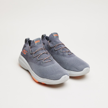 Skechers Textured Lace-Up Walking Shoes
