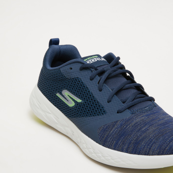 Skechers Lace-Up Sports Shoes with Mesh Detail