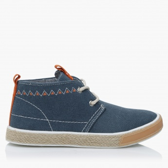 Lee Cooper Lace-Up Texture High-Top Shoes