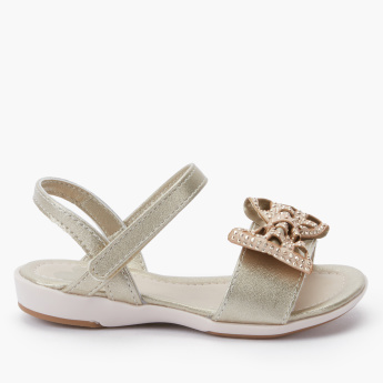 Pampili Bow Detail Sandals with Hook and Loop Closure