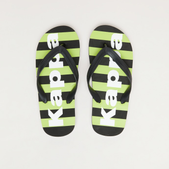 Kappa Striped Flip Flops with Textured Straps