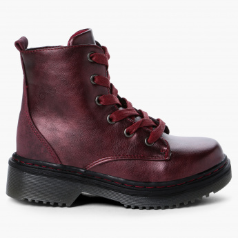 Juniors Boots with Zip Closure
