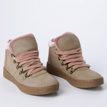 Lee Cooper High Tops with Lace Up Closure