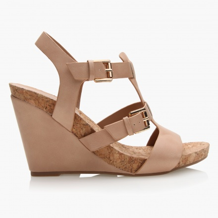 Paprika Multi-strap Wedges