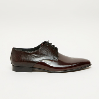 Elle Textured Lace-Up Derby Shoes