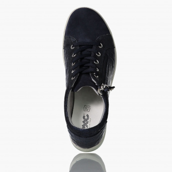 IMAC Textured Lace-Up Shoes with Zip Closure