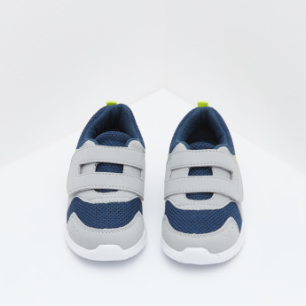 Textured Low Top Sneaker with Hook and Loop Closure