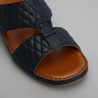Duchini Quilted Arabic Sandals with Buckle Detail