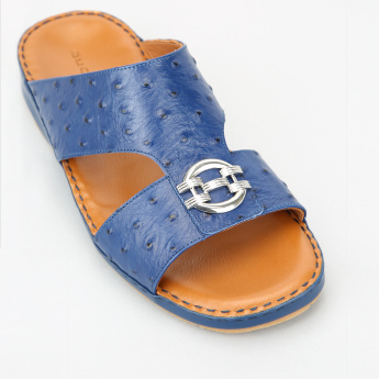 Duchini Textured Arabic Sandals with Metallic Detail