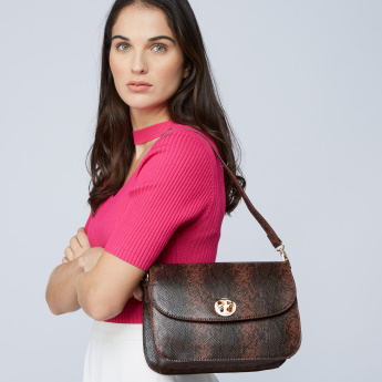 Paprika Satchel Bag with Adjustable Strap and Flap