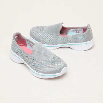 Skechers Mesh Slip-On Sneakers with Textured Outsole