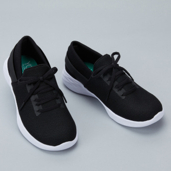 Skechers Textured Lace-Up Sneakers