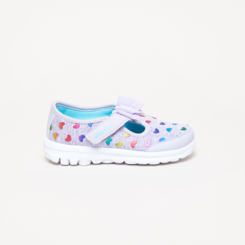 Skechers Printed Mary Jane Shoes with Hook and Loop Closure