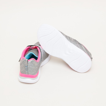 Skechers Textured Lace-Up Sneakers with Hook and Loop Closure