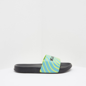 Kappa Printed Striped Slides