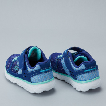 Sketchers Textured Sneakers with Hook and Loop Closure