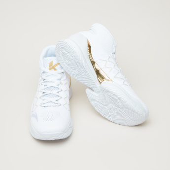 ANTA Textured Basketball Shoes with Lace Closure