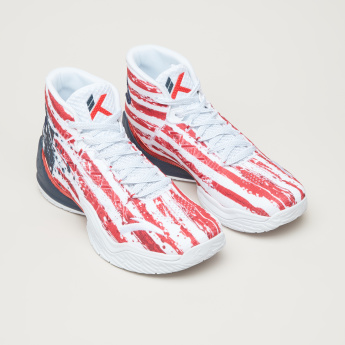 ANTA Printed Basketball Shoes with Lace Closure