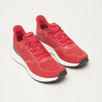ANTA Running Shoes with Lace-Up Closure