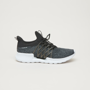 ANTA Textured Running Shoes with Lace-Up Closure